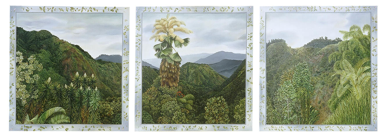 Triptych with Century Palm
